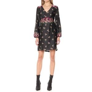 Nanette Lepore Long Sleeve Floral Shift Dress